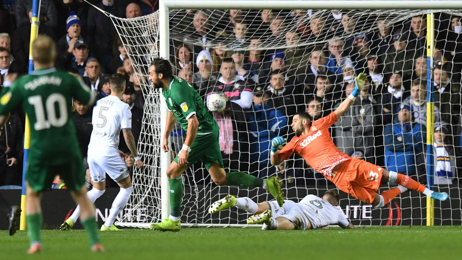 Atdhe Nuhiu scores in Sheffield Wednesday's win at Leeds United