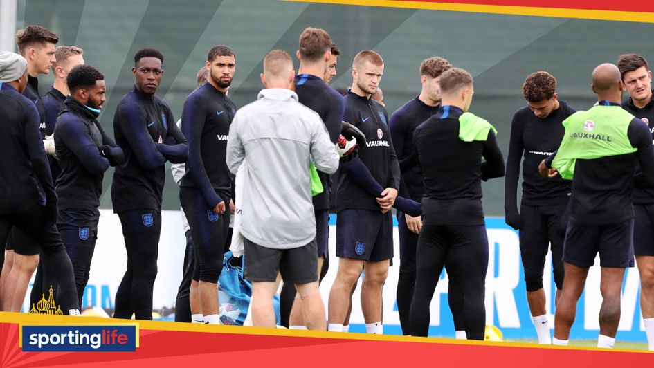 England's World Cup squad train on Tuesday