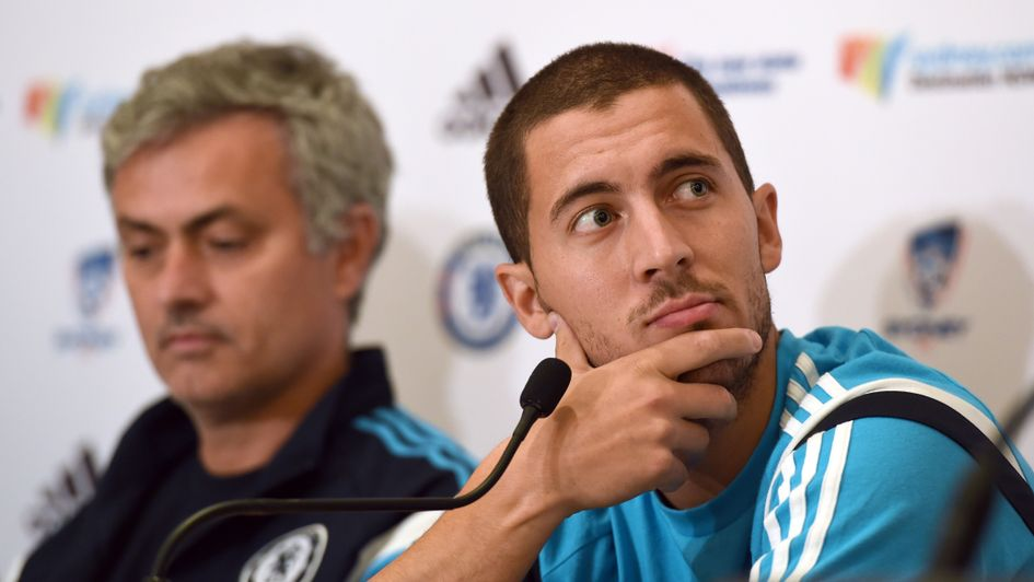 Eden Hazard (right) and Jose Mourinho, pictured in 2015
