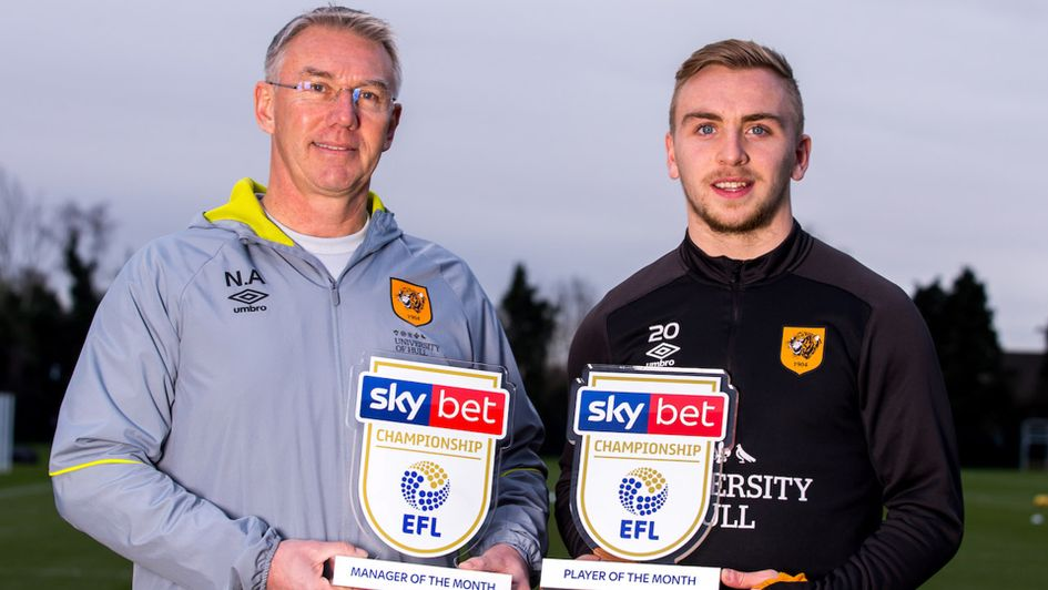 Nigel Adkins and Jarrod Bowen won both December awards
