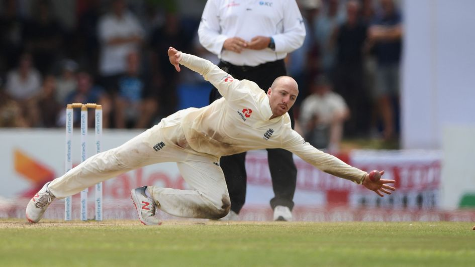 Jack Leach leaps into action