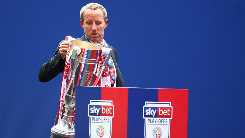 Lee Bowyer after the Sky Bet League One play-off final