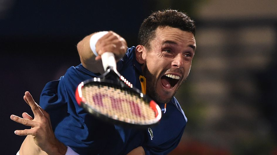 Roberto Bautista Agut on his way to a second title