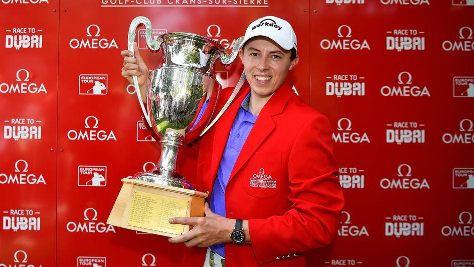 Matt Fitzpatrick: The 24-year-old is presented with the Omega European Masters title