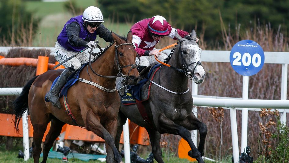 Mr Adjudicator (left) beats Farclas at Leopardstown