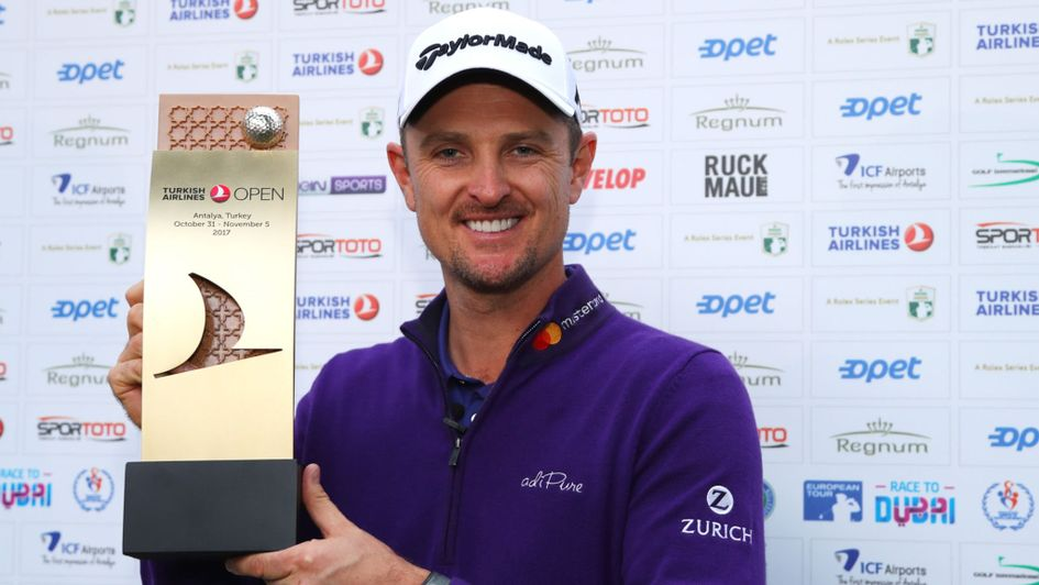 Justin Rose after 2018 defense of his Turkish Airlines title