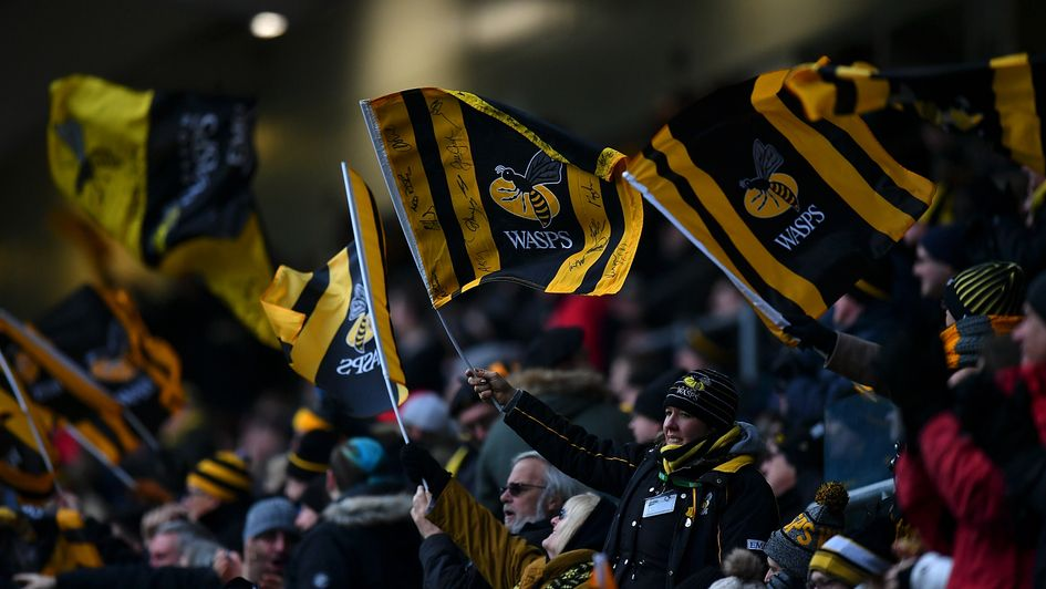 Wasps fans celebrate their victory