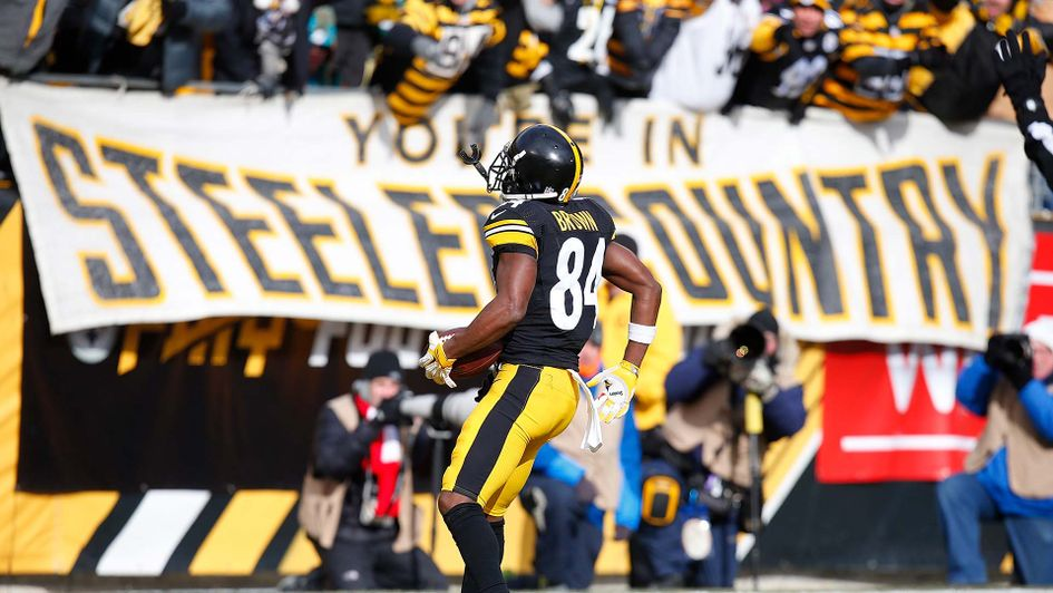 Antonio Brown stars for the Pittsburgh Steelers