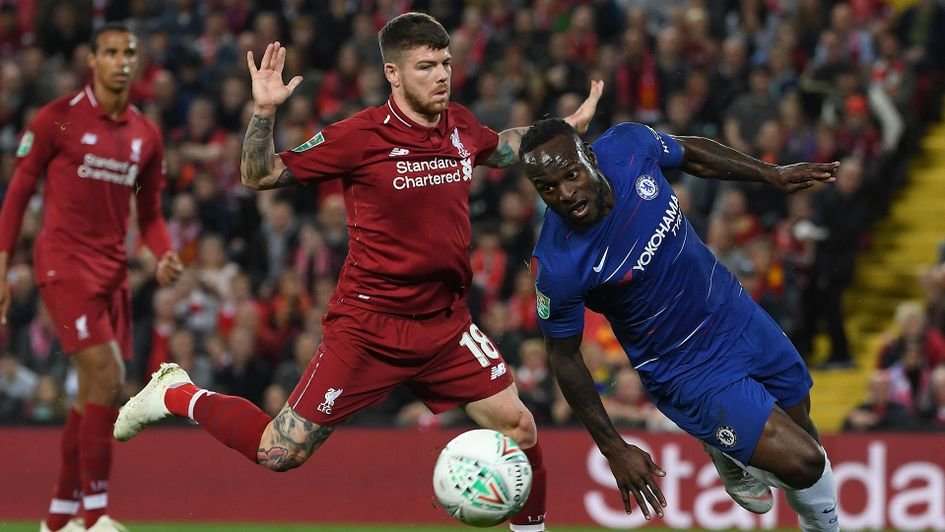 Action from Liverpool v Chelsea
