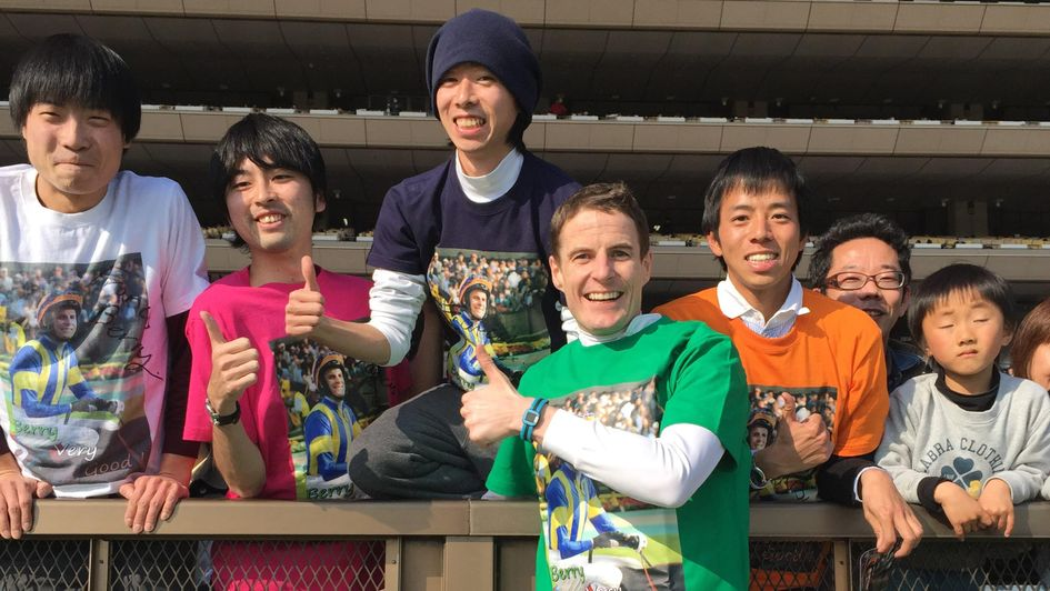 With some of my fan club out in Japan!