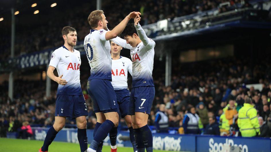 df8fe946d Everton 2-6 Tottenham  Harry Kane among Spurs scorers at Everton ...