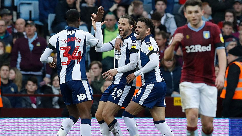 Jay Rodriguez: Celebrations for West Brom players at Aston Villa