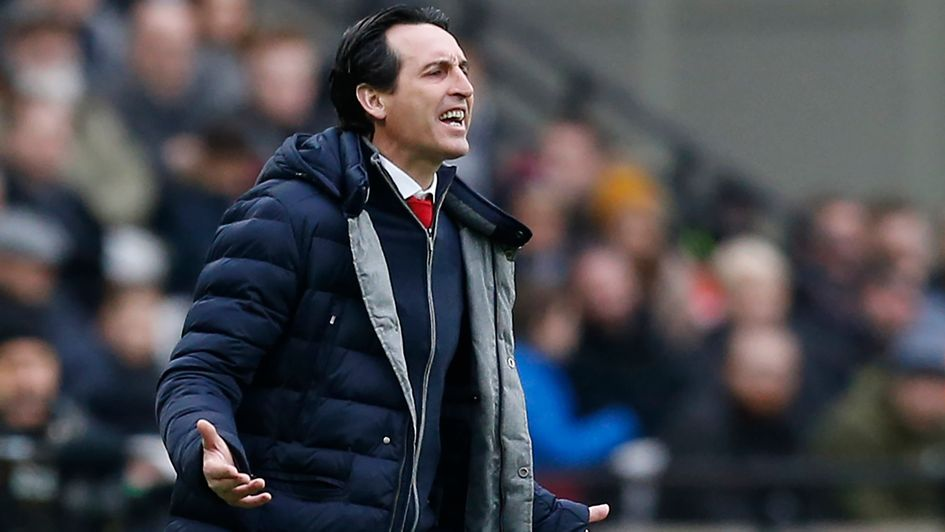 Unai Emery: The Arsenal boss is pictured during their defeat at West Ham