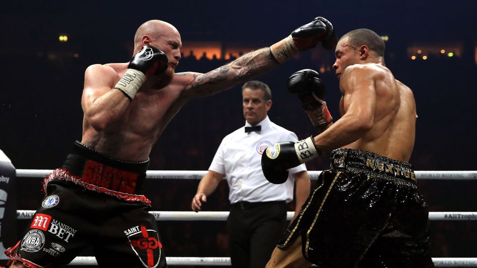 George Groves on his way to victory against Chris Eubank Jr