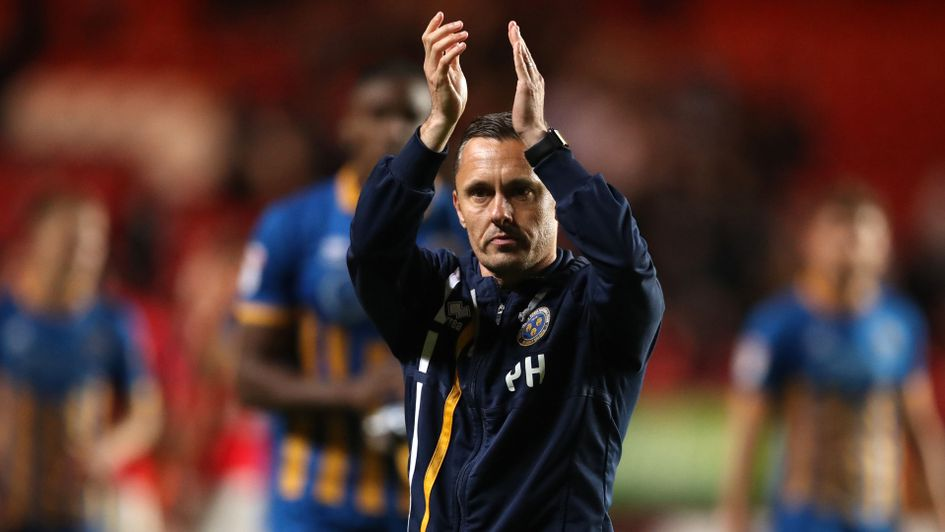 Shrewsbury manager Paul Hurst after the 1-0 win at Charlton in the first leg