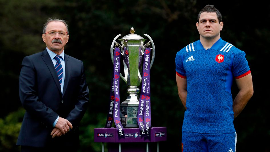 France coach Jacques Brunel and captain Guilhem Guirado