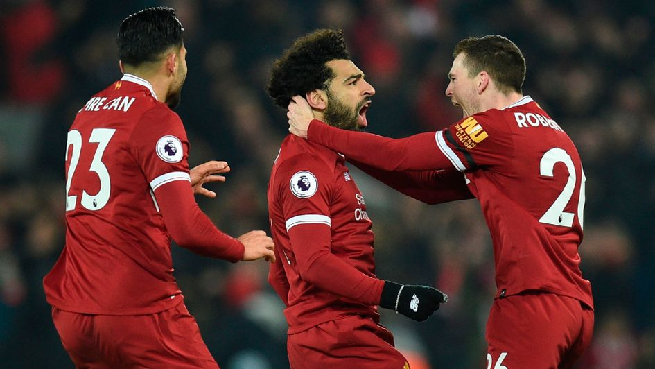 Mohamed Salah and Liverpool celebrate