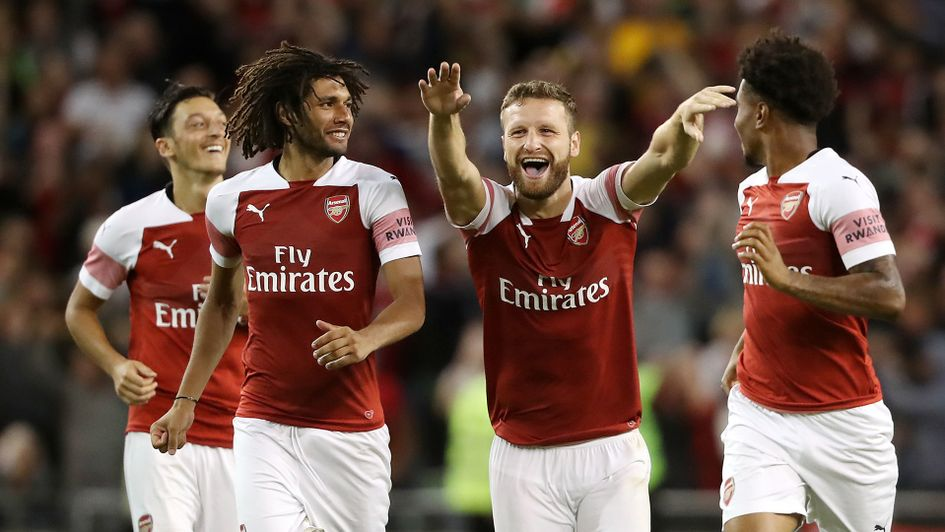 Arsenal celebrate against Chelsea in the International Champions Cup