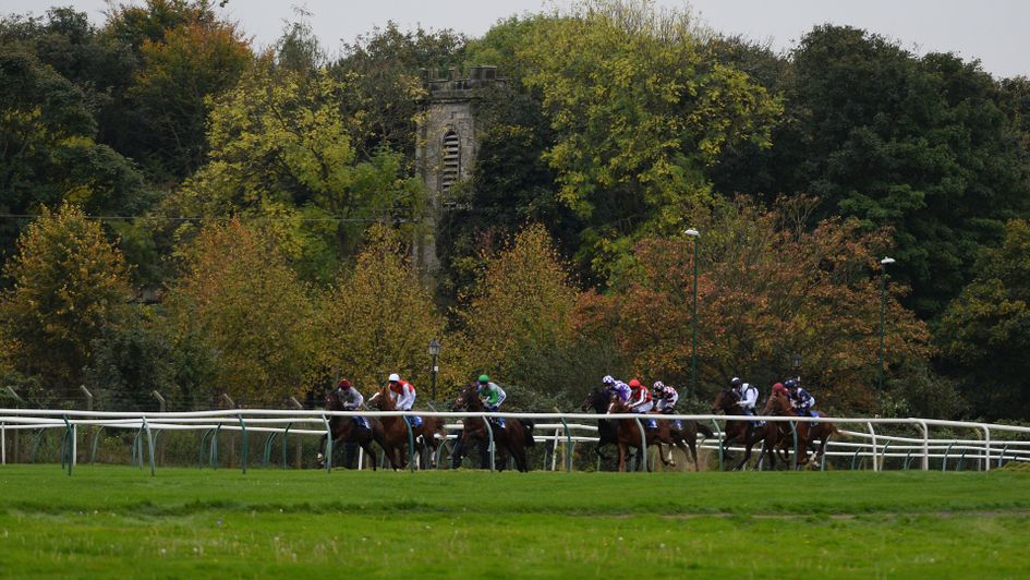 Action from Nottingham Racecourse