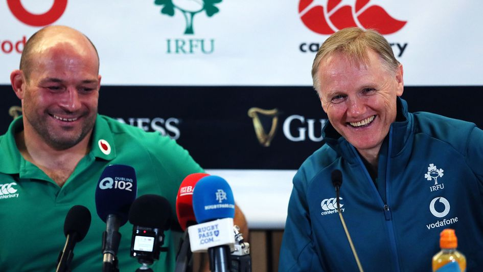 Rory Best (L) and Joe Schmidt have steered Ireland to second in the World Rankings