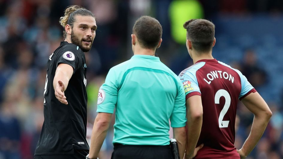 Andy Carroll gets his marching orders at Burnley