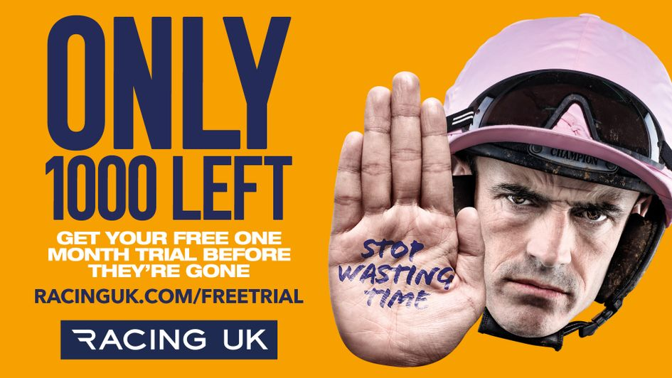 Only 1000 free Racing UK trials remain