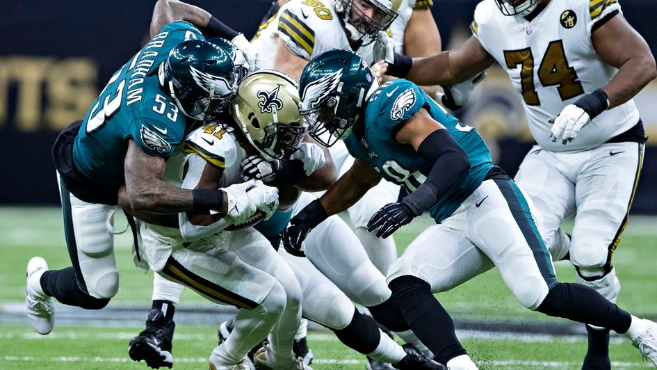 The Philadelphia Eagles take on the New Orleans Saints in the NFL play-offs