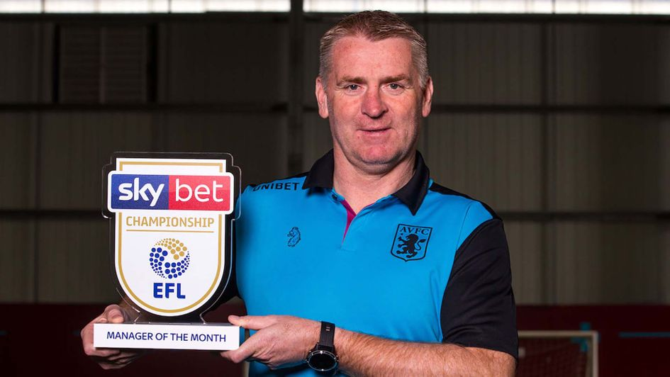 Aston Villa boss Dean Smith wins manager of the Month for March