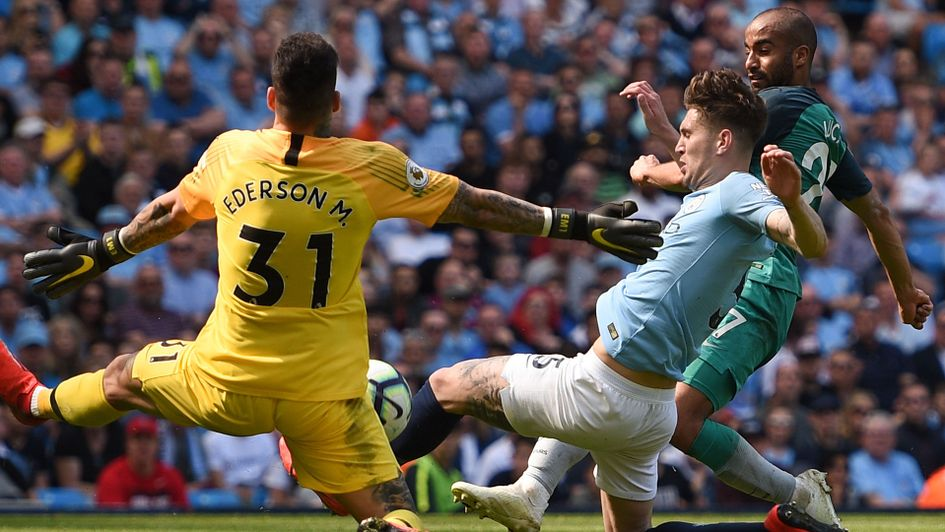 Ederson makes another block save to keep Tottenham out