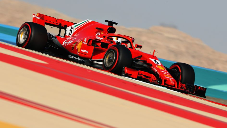 Sebastian Vettel: On pole in Bahrain