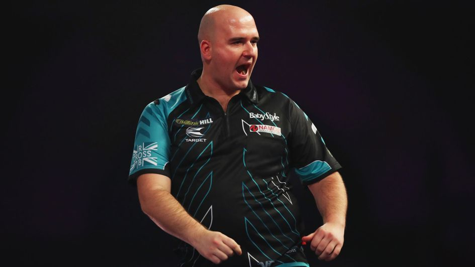 Rob Cross battled hard to beat Michael Smith