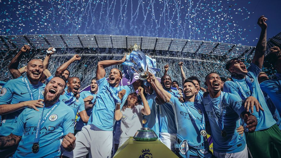 Manchester City won the Premier League in 2017/18