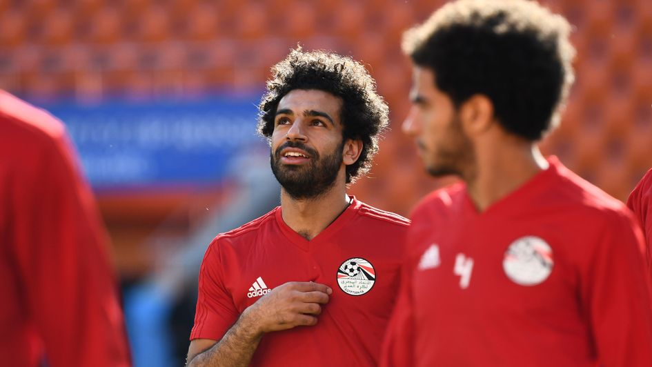 Mo Salah in training with Egypt