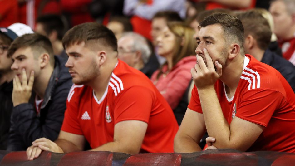 It's a tough night for home fans in Cardiff