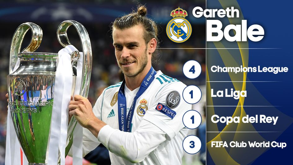 Gareth Bale's trophy success at Real Madrid