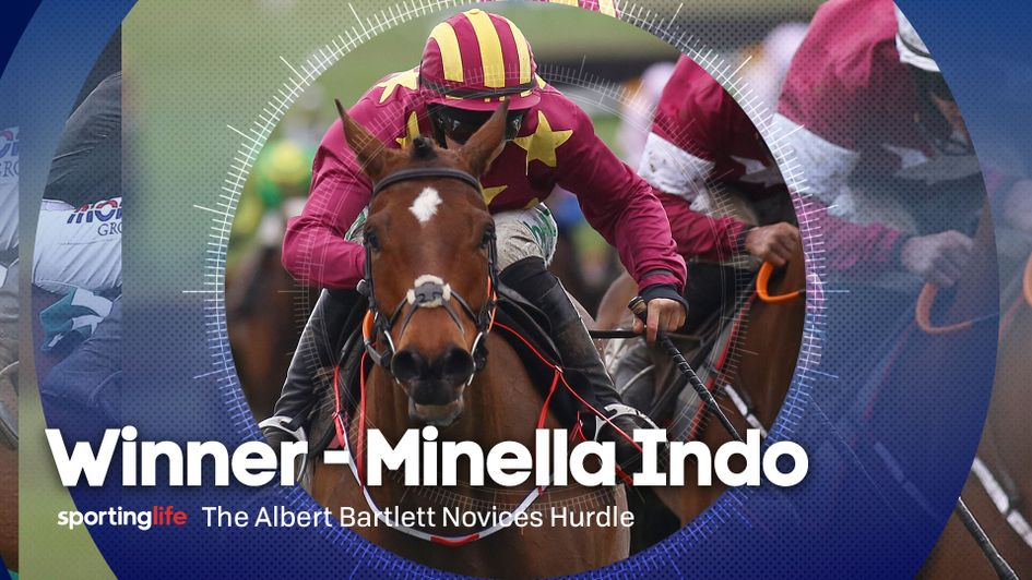 Minella Indo is a winner on Gold Cup Day