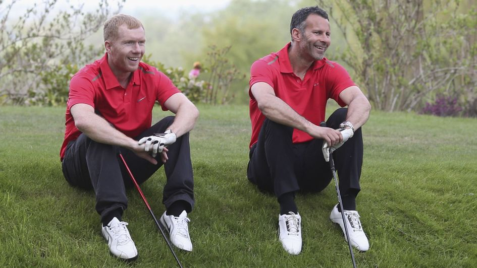 Paul Scholes with fellow Manchester United legend Ryan Giggs
