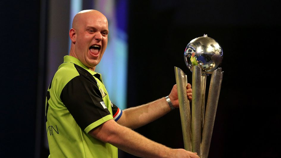 Michael van Gerwen celebrates winning the PDC World Darts Championship final