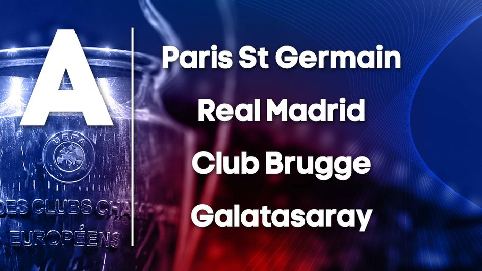 Champions League Group A: PSG, Real Madrid, Club Brugge, Galatasaray