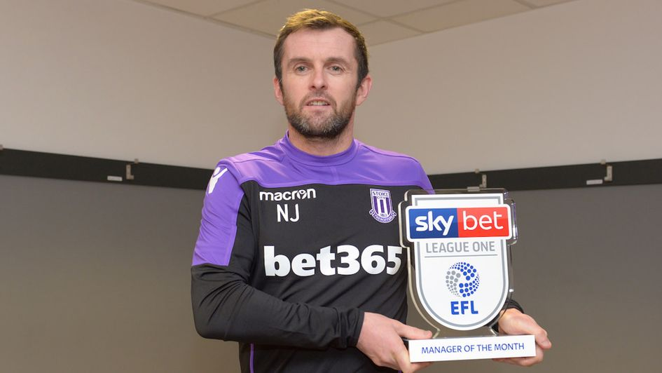Nathan Jones won the Sky Bet League One Manager of the Month award
