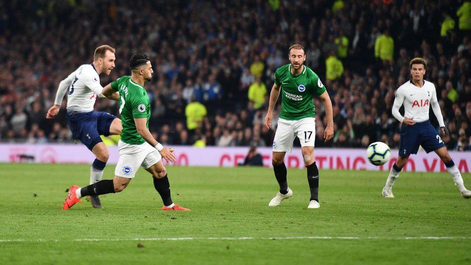 Christian Erkisen: The Danish midfielder scored an 88th-minute winner for Spurs v Brighton