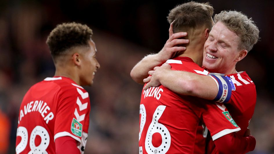 Middlesbrough were successful in Carabao Cup action