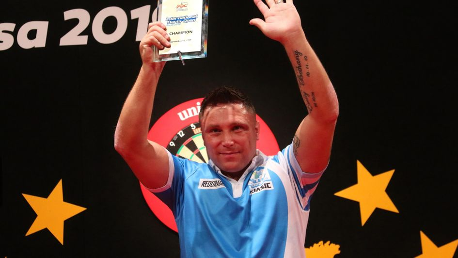 Gerwyn Price wins the International Darts Open (Picture: Tobias Wenzel, PDC Europe)