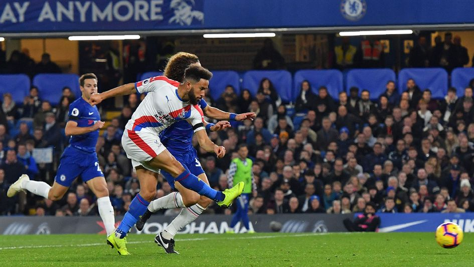 Andros Townsend scores Crystal Palace's equaliser against Chelsea