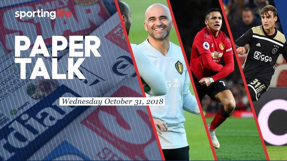 ca20a0d9 Paper Talk: Roberto Martinez, Alexis Sanchez and Nicolas Tagliafico all  feature
