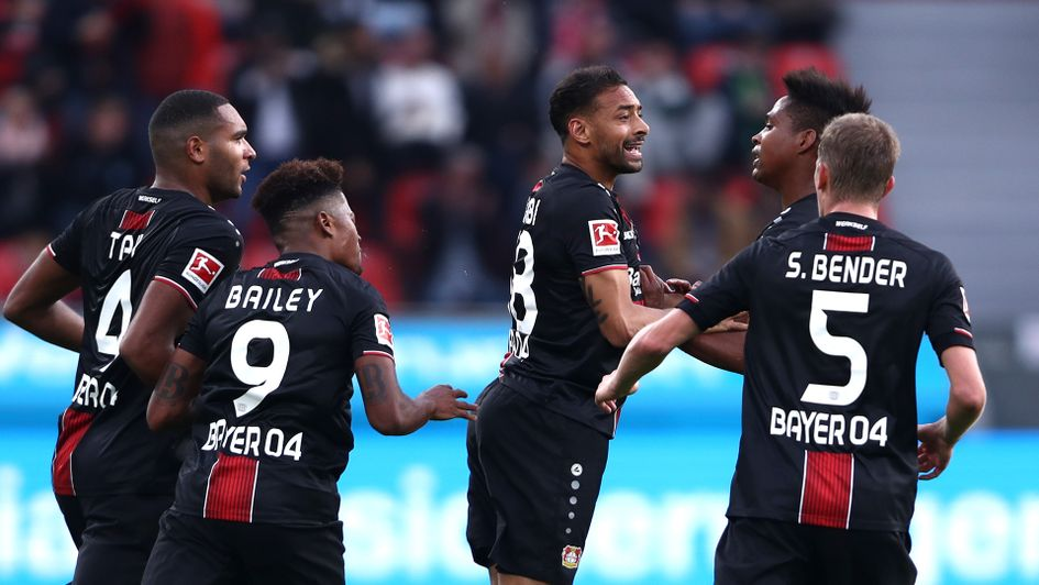Bayer Leverkusen celebrate