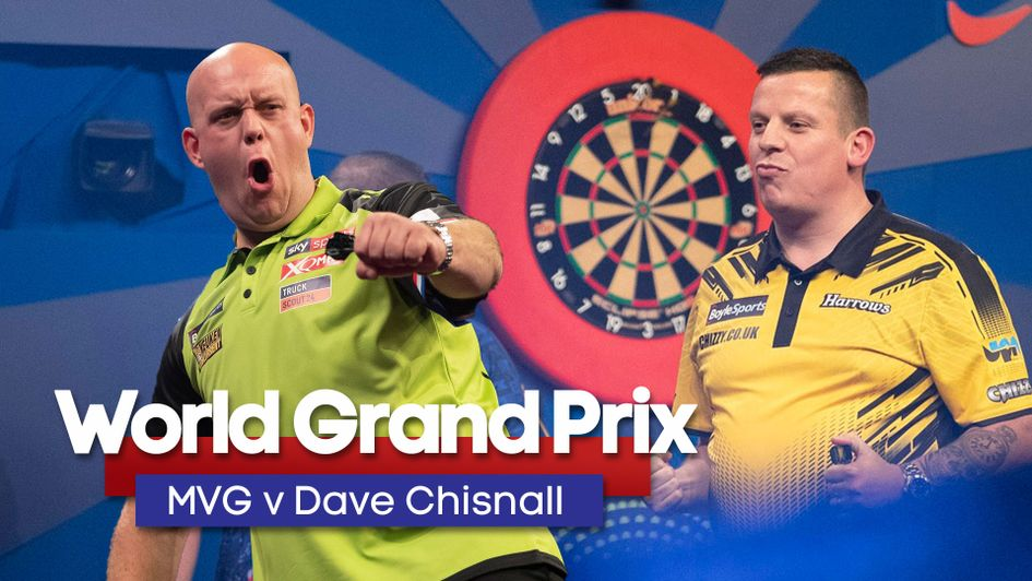 Michael van Gerwen will take on Dave Chisnall in the World Grand Prix final