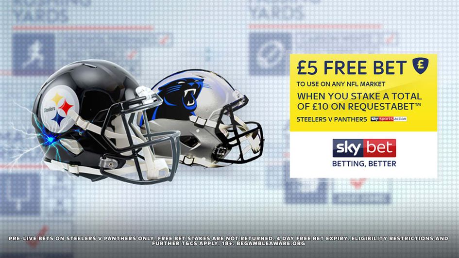 Sky Bet free bet offer for NFL RequestABets on the Panthers v Steelers game