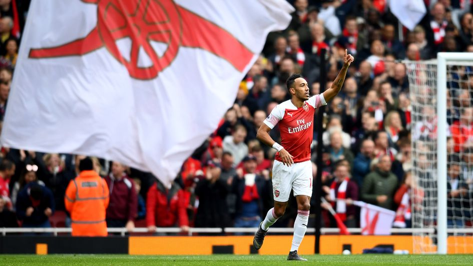 Celebrations for Pierre-Emerick Aubameyang