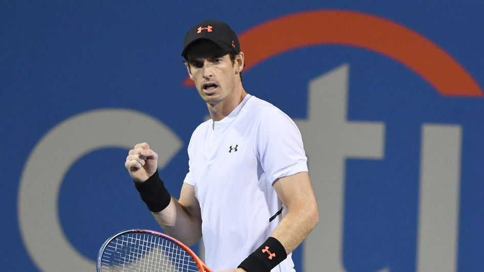Andy Murray back in action in Washington